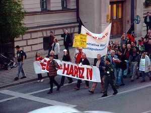 Manifestation contre les réformes Hartz