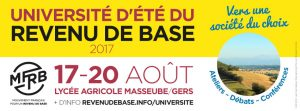 Université d'été (17-20 août 2017)