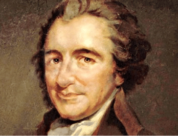 Thomas Paine (1737 – 1809) est le premier a avoir posé le principe d'un revenu universel. Il souhaitait le financer par l'impôt sur les héritages et combattre ainsi les rentes des aristocrates pour favoriser la création de valeur par la société civile.