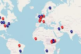 Carte mondiale des expérimentations de revenu de base - MFRB